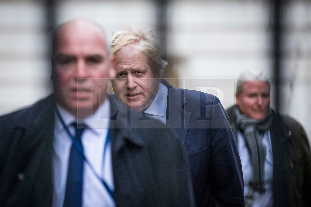 © Licensed to London News Pictures. 08/01/2018. London, UK. Foreign Secretary Boris Johnson arrives on Downing Street as Prime Minister Theresa May reshuffles the Cabinet. Photo credit: Rob Pinney/LNP