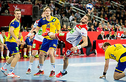Bjarte Myrhol of Norway during handball match between National teams of Sweden and Norway on Day 7 in Main Round of Men's EHF EURO 2018, on January 24, 2018 in Arena Zagreb, Zagreb, Croatia.  Photo by Vid Ponikvar / Sportida