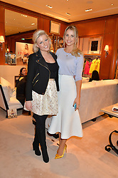 Left to right, NATALIE COYLE and VOGUE WILLIAMS at a party to celebrate the publication of Front Roe by Louise Roe held at Ralph Lauren, 1 New Bond Street, London on 1st April 2015.
