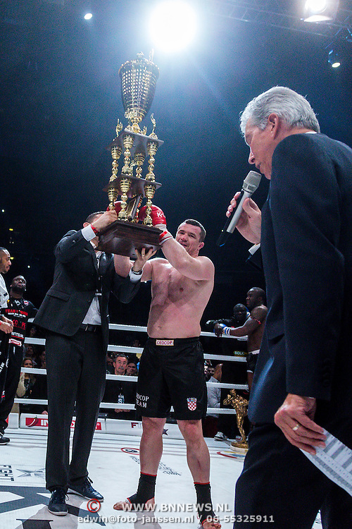 CRO/Zagreb/20130315- K1 WGP Finale Zagreb, Mirko Cro Cop Filipovic wint de finale en is wereldkampioen