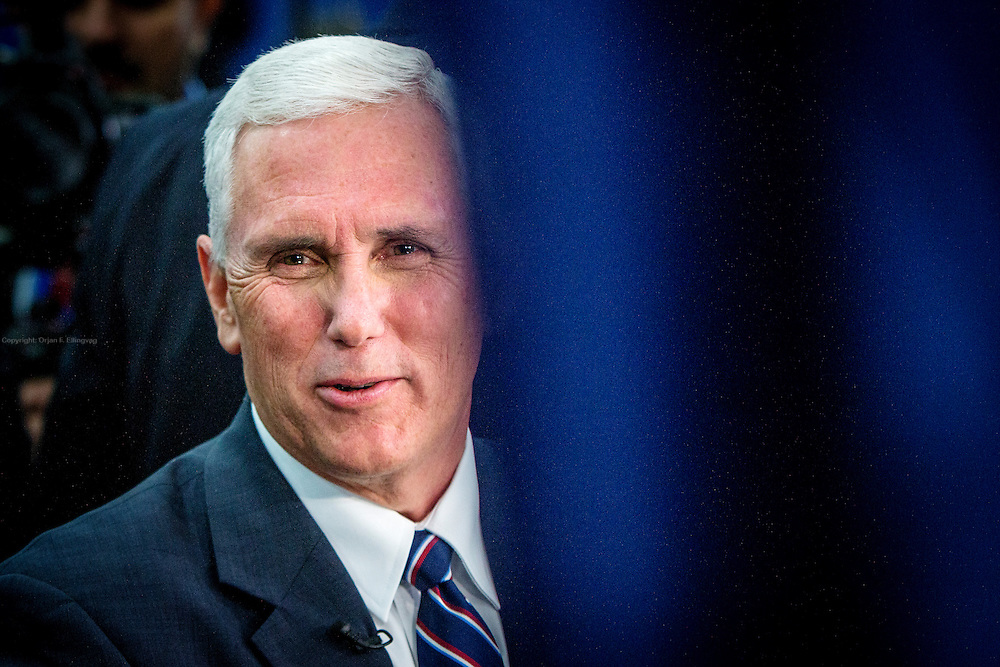 The republican pick for Vice President, Mike Pence. The Democrate and Republican nominees for US President, Hillary Rodham Clinton and Donald John Trump, met on Sep. 26th for the first head to head Presidential Debate at the Hofstra University in Long Island.