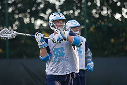 05 November 2007: North Carolina Tar Heels men's lacrosse Matt Davie in a practice on Navy Field in Chapel Hill, NC.