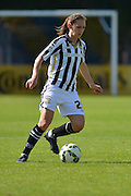 Notts County Ladies midfielder Dunia Susi controls the ball during the FA Women's Super League match between Chelsea Ladies FC and Notts County Ladies FC at Staines Town FC, Staines, United Kingdom on 6 September 2015. Photo by Mark Davies.