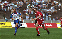BERLIN, GERMANY - Sunday, August 7, 1994: Liverpool's Steve McManaman during a preseason friendly between Hertha BSC Berlin and Liverpool FC at the Olympiastadion. Liverpool won 3-0. (Pic by David Rawcliffe/Propaganda)