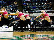 The Ohio Dance Team performs during half time Tuesday at the Convo. photo by Kevin Riddell