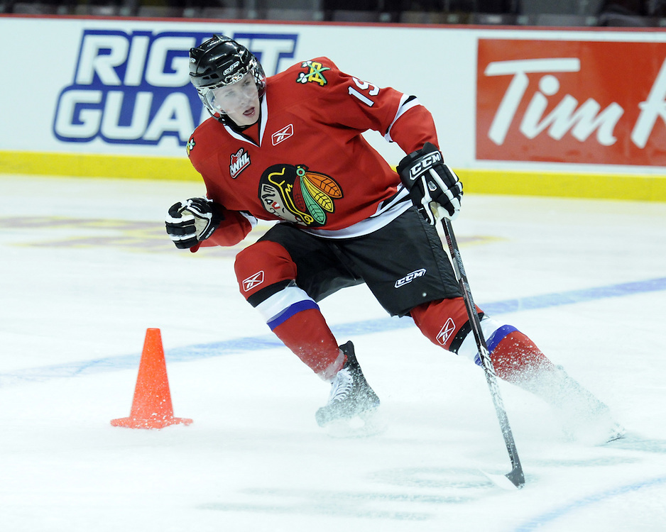 Ryan Johansen of the Portland Winterhawks participates in Next Testing at the Home Hardware CHL Top Prospects Game in Windsor, ON on Tuesday. Photo by Aaron Bell/CHL
