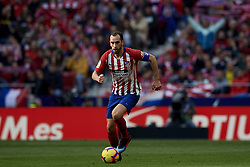 February 9, 2019 - Madrid, Madrid, Spain - Diego Godin of Atletico Madrid during the week 23 of La Liga between Atletico Madrid and Real Madrid at Wanda Metropolitano stadium on February 09 2019, in Madrid, Spain. (Credit Image: © Jose Breton/NurPhoto via ZUMA Press)