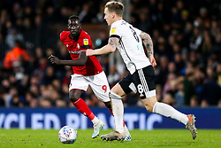 Stefan Johansen of Fulham is challenged by Famara Diedhiou of Bristol City - Rogan/JMP - 07/12/2019 - Craven Cottage - London, England - Fulham v Bristol City - Sky Bet Championship.