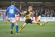 Cambridge No 12 Max Clark during the Sky Bet League 2 match between Cambridge United and Carlisle United at the R Costings Abbey Stadium, Cambridge, England on 16 April 2016. Photo by Nigel Cole.
