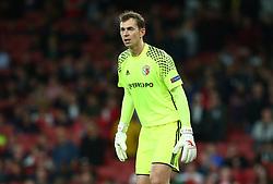 September 20, 2018 - London, England, United Kingdom - Bohdan Shust of FC Vorskla Poltava.during UAFA Europa League Group E between Arsenal and FC Vorskla Poltava at Emirates stadium , London, England on 20 Sept 2018. (Credit Image: © Action Foto Sport/NurPhoto/ZUMA Press)