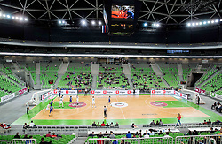 Arena during basketball match between KK Union Olimpija Ljubljana and KK Rogaska in 8th Round of Nova KBM Slovenian Champion League 2015/16, on April 29, 2016 in Arena Stozice, Ljubljana, Slovenia. Photo by Vid Ponikvar / Sportida