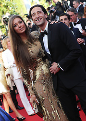 59675521  .US actor Adrien Brody poses with his partner Lara Lieto as they arrive for the screening of the American film Behind the Candelabra presented in Competition at the 66th edition of the Cannes Film Festival in Cannes, southern France, May 21, 2013. Photo by: imago / i-Images. UK ONLY
