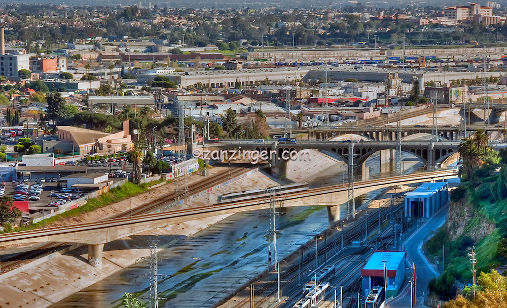LA River  Bridges Downtown Los Angeles CA