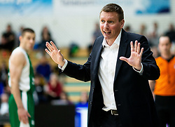 Simon Petrov, head coach of Krka during basketball match between KK Krka and KK Petrol Olimpija in 22nd Round of ABA League 2018/19, on March 17, 2019, in Arena Leon Stukelj, Novo mesto, Slovenia. Photo by Vid Ponikvar / Sportida