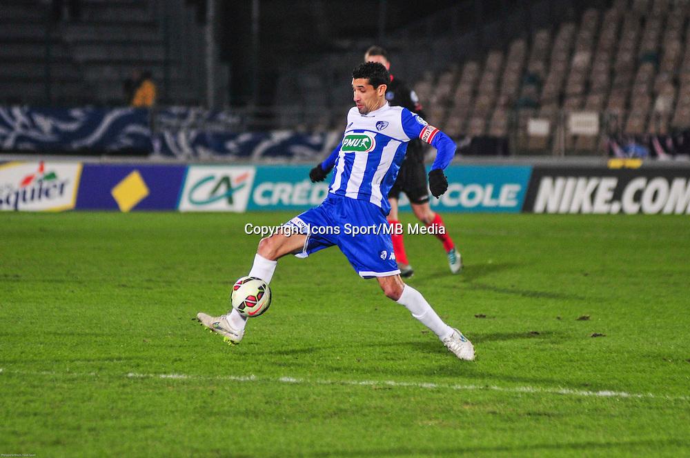 Nassim Akrour - 21.01.2015 - Boulogne / Grenoble - Coupe de France<br />Photo : Philippe le Brech / Icon Sport