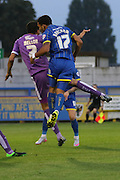Andy Barcham AFC Wimbledon during the Johnstone's Paint Trophy match between AFC Wimbledon and Plymouth Argyle at the Cherry Red Records Stadium, Kingston, England on 1 September 2015. Photo by Stuart Butcher.