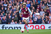 Aston Villa defender Jordan Amavi (23) in action during the EFL Sky Bet Championship match between Fulham and Aston Villa at Craven Cottage, London, England on 17 April 2017. Photo by Jon Bromley.