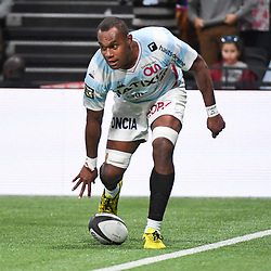 Leone Nakarawa of Racing scores a try during the Top 14 match between Racing 92 and Section Paloise on October 27, 2018 in Nanterre, France. (Photo by Sandra Ruhaut/Icon Sport) - Leone NAKARAWA - Paris (France)