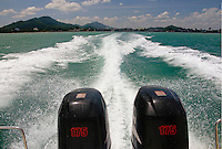 Speedboat wake Gulf of Thailand