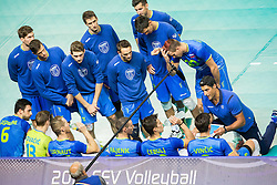 Andrea Giani, head coach of Slovenia with players during volleyball match between National teams of Slovenia and France at Final match of 2015 CEV Volleyball European Championship - Men, on October 18, 2015 in Arena Armeec, Sofia, Bulgaria. Photo by Vid Ponikvar / Sportida