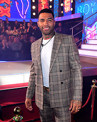 Jermaine Pennant enters the house during the Celebrity Big Brother Launch Night at Elstree Studios, Hertfordshire.