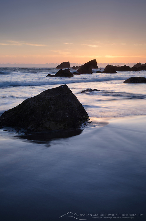 Sunset on Harris Beach, Harris Beach State Park, Oregon