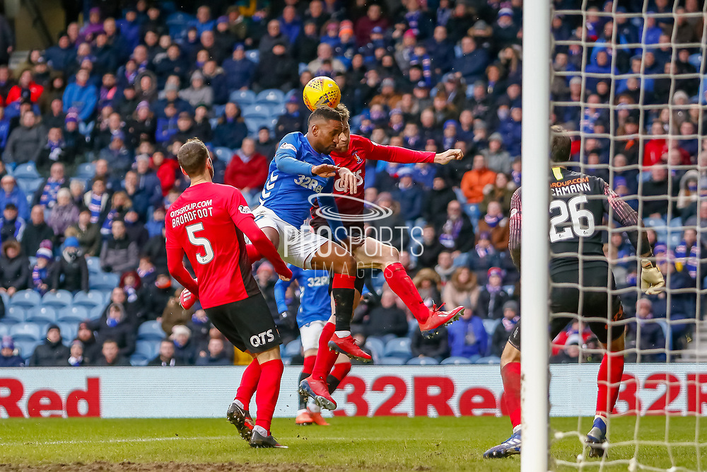 Rangers substitute Jermain Defoe during the Ladbrokes Scottish Premiership match between Rangers and Kilmarnock at Ibrox, Glasgow, Scotland on 16 March 2019.