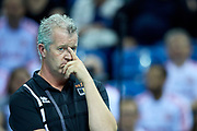 Poland, Krakow - 2017 September 03: Vital Heynen trainer coach of Belgium team looks forward while Third Place match between Belgium and Serbia during LOTTO EUROVOLLEY POLAND 2017 - European Championships in volleyball  at Tauron Arena on September 03, 2017 in Krakow, Poland.<br /> <br /> Mandatory credit:<br /> Photo by &copy; Adam Nurkiewicz<br /> <br /> Adam Nurkiewicz declares that he has no rights to the image of people at the photographs of his authorship.<br /> <br /> Picture also available in RAW (NEF) or TIFF format on special request.<br /> <br /> Any editorial, commercial or promotional use requires written permission from the author of image.