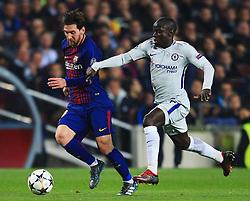 Lionel Messi of Barcelona takes on Ngolo Kante of Chelsea - Mandatory by-line: Matt McNulty/JMP - 14/03/2018 - FOOTBALL - Camp Nou - Barcelona, Catalonia - Barcelona v Chelsea - UEFA Champions League - Round of 16 Second Leg