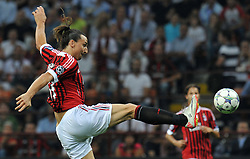 28.09.2011, Stadion Giuseppe Meazza, Mailand, ITA, UEFA CL, Gruppe H, ITA, UEFA CL, AC Mailand (ITA) vs FC Viktoria Pilsen (CZE), im Bild Zlatan IBRAHIMOVIC Milan. // during the UEFA Champions League game, group H, AC Mailand (ITA) vs FC Viktoria Pilsen (CZE) at Giuseppe Meazza stadium in Mailand, Italy on 2011/09/28. EXPA Pictures © 2011, PhotoCredit: EXPA/ InsideFoto/ Alessandro Sabattini +++++ ATTENTION - FOR AUSTRIA/(AUT), SLOVENIA/(SLO), SERBIA/(SRB), CROATIA/(CRO), SWISS/(SUI) and SWEDEN/(SWE) CLIENT ONLY +++++