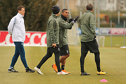 March 6, 2018 - Vinovo, Piedmont, Italy - Douglas Costa (Juventus FC) during the training on the eve of the second leg of the Round 16 of the UEFA Champions League 2017/18 between Juventus FC and Tottenham Hotspur FC at Juventus Training Center on 06 March, 2018 in Vinovo (Turin), Italy. (Credit Image: © Massimiliano Ferraro/NurPhoto via ZUMA Press)