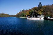 Boat on lake, Plitvice National Park, Croatia