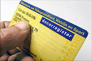Nederland, Ubbergen, 18-10-2015Een donorregistratiekaart.FOTO: FLIP FRANSSEN/ HH