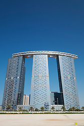 Modern high-rise residential Gate Tower on Al Reem Island in Abu Dhabi United Arab Emirates
