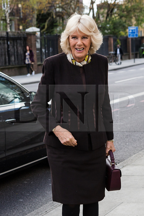 © Licensed to London News Pictures. 27/04/2016. London, UK. Camilla, Duchess of Cornwall arrives at the launch of GrandFest festival at The Geffrye Museum in Hoxton, east London. Photo credit : Vickie Flores/LNP
