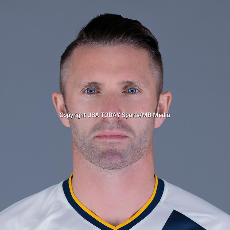 Feb 25, 2016; USA; LA Galaxy player Robbie Keane poses for a photo. Mandatory Credit: USA TODAY Sports