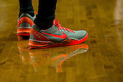 WACO, TX - JANUARY 3: Nike shoes worn by the Savannah State Tigers against the Baylor Bears on January 3, 2014 at the Ferrell Center in Waco, Texas.  (Photo by Cooper Neill) *** Local Caption ***