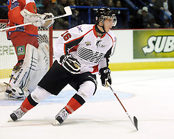 Ryan Strome helped Team OHL to a 2-1 shootout win over Russia in Game 4 of the SUBWAY Super Series in Sudbury, ON on Monday Nov. 15, 2010.  Photo by Aaron Bell/OHL Images