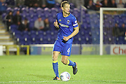 AFC Wimbledon defender Paul Robinson (6) dribbling during the EFL Trophy match between AFC Wimbledon and Tottenham Hotspur at the Cherry Red Records Stadium, Kingston, England on 3 October 2017. Photo by Matthew Redman.