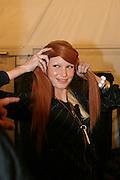 .Carlos Miele Fashion Show Fall 2005 - Backstage.Plaza at Bryant Park.New York, NY, USA.Wednesday, February, 09, 2005.Photo By Selma Fonseca/ Celebrityvibe.com/Photovibe.com, New York, USA, Phone 212 410 5354, email:sales@celebrityvibe.com; website: www.celebrityvibe.com...