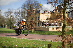 Amalie Dideriksen (DEN) of Boels-Dolmans Cycling Team digs deep during Stage 1a of the Healthy Ageing Tour - a 16.9 km time trial, starting and finishing in Leek on April 5, 2017, in Groeningen, Netherlands.