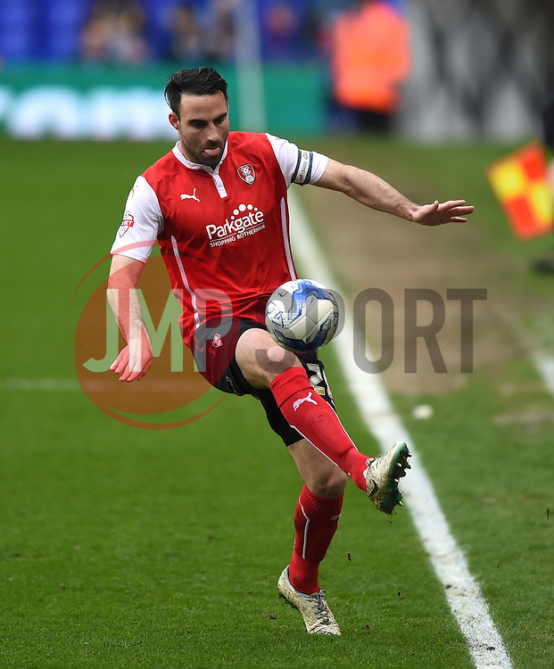 Rotherham United captain Craig Morgan in action during the Sky Bet Championship match between Birmingham City and Rotherham United at St Andrew's Stadium on 3 April 2015 in Birmingham, England - Photo mandatory by-line: Paul Knight/JMP - Mobile: 07966 386802 - 03/04/2015 - SPORT - Football - Birmingham - St Andrew's Stadium - Birmingham City v Rotherham United - Sky Bet Championship