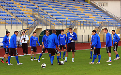 Players at practice of Slovenian men National team, on October 13, 2008, in Domzale, Slovenia.  (Photo by Vid Ponikvar / Sportal Images)