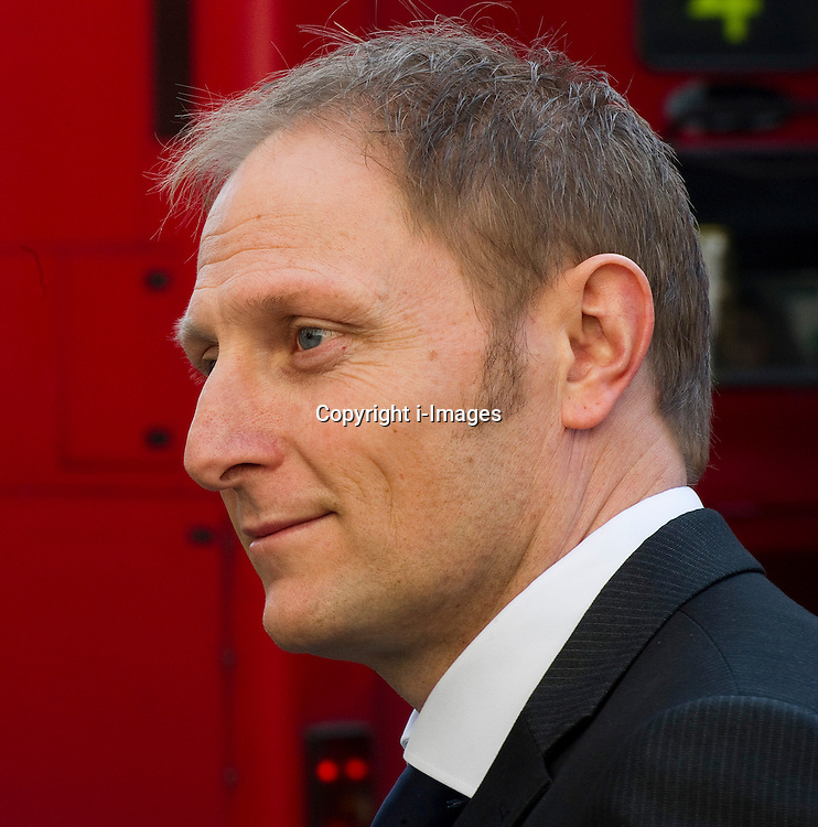 Danny Nightingale with his wife Sally (not in frame) at the High Court today.The soldier received an 18-month custodial sentence last November for illegally possessing a pistol and ammunition but was released following a campaign led by his wife, London, UK, March 13, 2013. Photo by: i-Images...