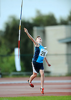 21 Aug 2016: Stephen Conneely, from Dublin. Boys U14 Javelin.  2016 Community Games National Festival 2016.  Athlone Institute of Technology, Athlone, Co. Westmeath. Picture: Caroline Quinn