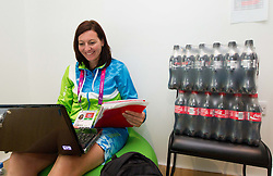 Katarina Tonin in Slovenian house in Paralympic village during Day 2 of the Summer Paralympic Games London 2012 on August 29, 2012, in Pralympic village, London, Great Britain. (Photo by Vid Ponikvar / Sportida.com)