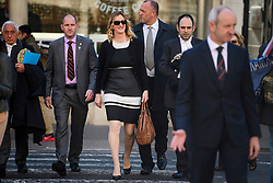 © Licensed to London News Pictures.15/03/2017.London, UK.  CLAIRE BLACKMAN (C), wife of Sergeant Alexander Blackman, arrives at the Royal Courts of Justice in London, where a judge reduced the conviction of Sgt Blackman from Murder to Manslaughter, on appeal.  Also known as Marine A, Sgt Blackman was appealing a life sentence for the murder of a wounded Taliban fighter in Afghanistan in 2011.Photo credit: Ben Cawthra/LNP
