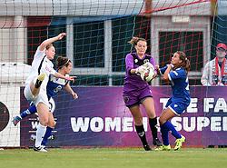 Hannah Reid of Bristol Academy Women makes a save - Mandatory by-line: Paul Knight/JMP - Mobile: 07966 386802 - 29/08/2015 -  FOOTBALL - Stoke Gifford Stadium - Bristol, England -  Bristol Academy Women v Birmingham City Ladies FC - FA WSL Continental Tyres Cup