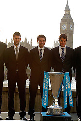 19.11.2010, Marriott County hall, London, ENG, ATP World Tour, Finals, im Bild Djokovic, Novak (SRB), Nadal, Rafael (ESP) and Federer, Roger (SUI). EXPA Pictures © 2010, PhotoCredit: EXPA/ InsideFoto/ Hasan Bratic +++++ ATTENTION - FOR AUSTRIA/AUT, SLOVENIA/SLO, SERBIA/SRB an CROATIA/CRO CLIENT ONLY +++++