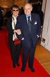 JACK CARDIFF and his wife NIKKI at an exhibition of photographs by Jack Cardiff held at The Royal College of Art, Kensington Gore, London on 10th November 2004.<br /><br />NON EXCLUSIVE - WORLD RIGHTS